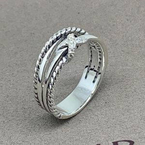 David Yurman Crosseover Ring with Diamonds
